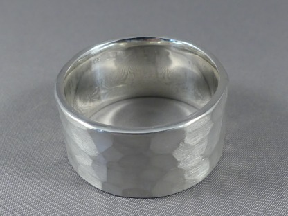 zilveren duimring