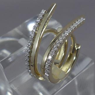 bicolor creolen met diamant