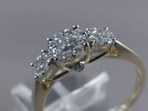 Bicolor verlovingsring diamant