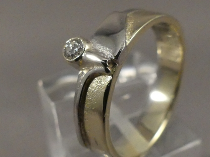 diamanten ring bicolor
