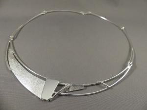 choker ketting zilver