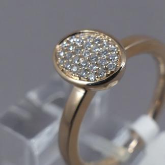 Rosé gouden ring met diamanten