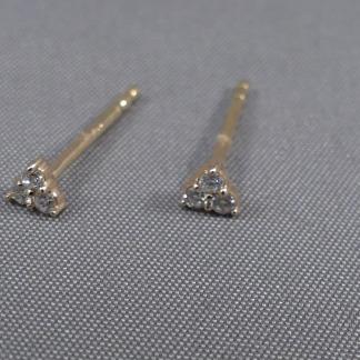 Rosé gouden diamant oorbellen