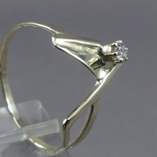 Gouden damesring diamant