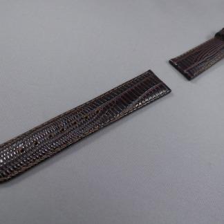 Horlogeband bruin Hagedis print