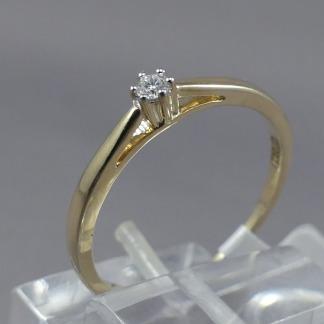 Geelgouden ring diamant