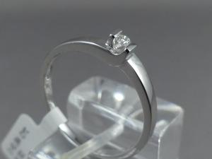 Witgouden solitair ring briljant