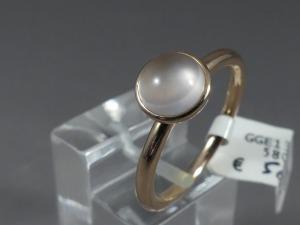 Rosé gouden solitair ring