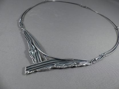 Choker collier zilver